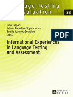 Dina Tsagari - International Experiences in Language Testing and Assessment