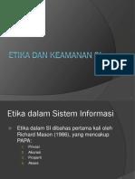 Etika Dan Pengendalian Sistem Informasi