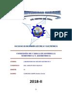 Informe CONEXIÓN DE CARGA EN ESTRELLA SIMÉTRICA Y ASIMÉTRICA