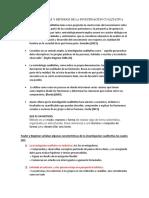 Caracteristicas y Metodos de La Investigacion Cualitativa