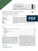 Biodegradation of Bioplastics in Natural Environments