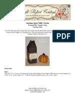 Autumn Spice Milk Carton