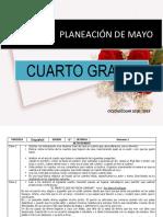 Planeacion Mayo 4to Grado 2018 2019
