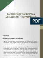 Factores Que Afectan a Nematodos Fitoparásitos