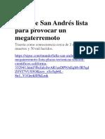 Falla de San Andrés Lista Para Provocar Un Megaterremoto