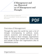 Overview of Management and Organizations, Historical Development