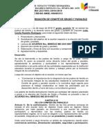 Acta de Comite de Padres de Familia Tercer Grado 2018-2019