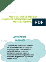 Diapositivas Tema 5 Anestesia. Tipos de Anestesia