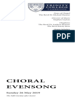 2019-05-26 Choral Evensong