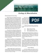 Fiji Geology Minerals