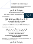 Bismillah & Its Blessings