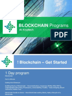 Blockchain Programs Jan 2019