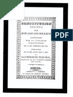 Constitucion Polítca Del Estado de México