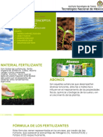 Nutrición Vegetal, fertilizantes