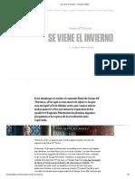 Se Viene El Invierno - Revista Anfibia
