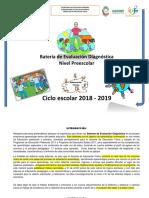 Batería 2018-19 Preescolar