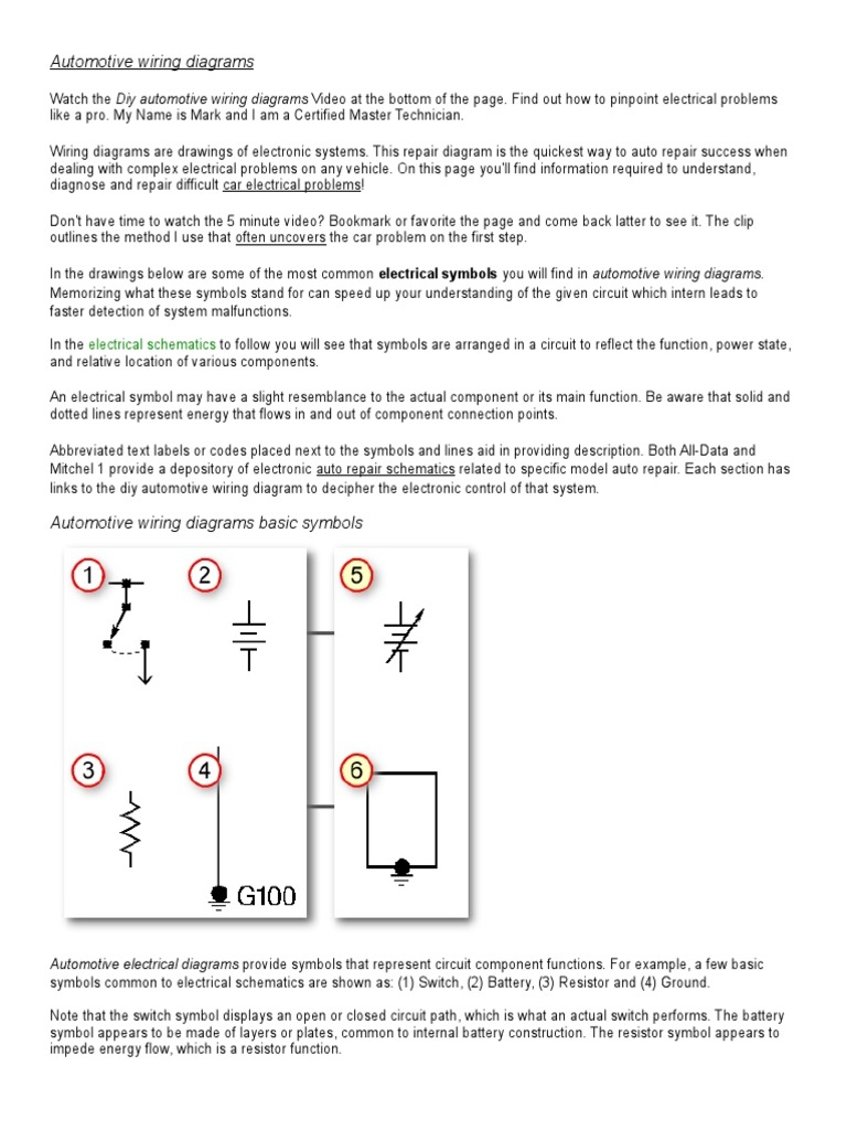 Electrical Schematic Wiring Diagram Video