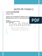 Investigación de Campo y Documental Informe Final