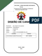 Informe Diseño de Canales