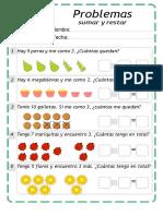 Guía Matematica Suma y Restas 1