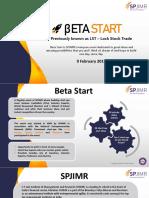 Beta Start 2019