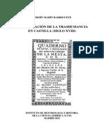Libro La Legislación de La Trashumancia en Castilla (Siglo Xviii)