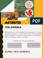 Beta thalassemia and septic arthritis