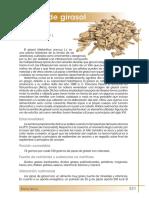 Informacion nutricional de pipas de girasol