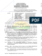 Barangay Ordinance No. 01 (2017) - Purok Organization