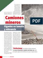 REVISTA MINERIA CHILENA Camiones Mineros Gigantes en Tamanio y Relevancia