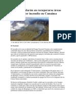 50 Años Tardarán en Recuperarse Áreas Afectadas Por Incendio en Canaima