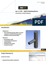 Mesh Intro 17.0 WS1.1 Workshop Instructions FEA ANSYS WB Meshing Basics