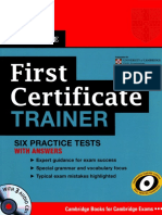 First Certificate Trainer Six Practice Tests With Answers