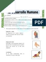 Ficha Desarrollo Humano Para Tercero de Primaria