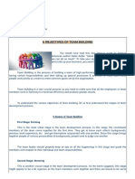 Objectives of Team Building