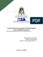 Escenarios de Daño Sísmico de la Ciudad de Cuenca