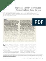 jurnal keperawatan setelah operasi tulang belakang (spinal)