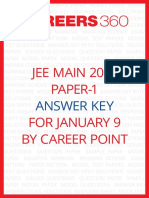 JEE Main Answer Key Paper 1 by Career Point Jan 9