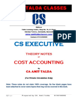 Theory Notes of Cost & Management Accounting-executive-revision