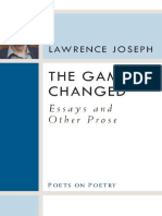 [Poets on Poetry] Lawrence Joseph - The Game Changed_ Essays and Other Prose (Poets on Poetry) (2011, University of Michigan Press)