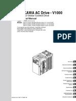Yaskawa V1000 CIMR VC Manual
