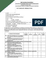 PG Feedback Form 2019