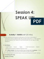Session 4 & 5 Speak Up Communications