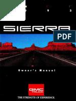 1993 Sierra Owner's Manual