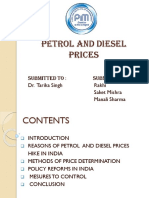 petrol and diesel prices in india