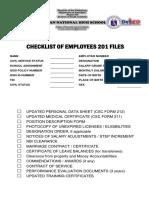 201 Files Checklist