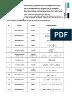 Sample Entrance Exam Muster Aufnahmeprüfung