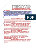 Business Management Project Topics and Materials in Nigeria