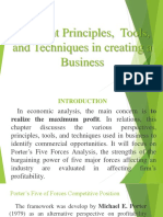 01. Different Principles Tools and Techniques in Creating a Business