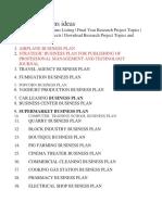 Business Plans Ideas
